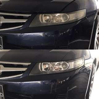 Honda Accord headlight restoration