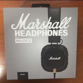 Marshall Major 2 Headphones With Mic NEW
