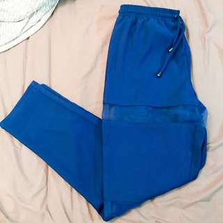 Chiffon cut navy blue pants/trousers