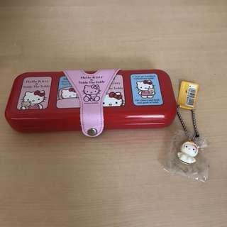 🚚 Hello Kitty鉛筆盒+鈴鐺吊飾