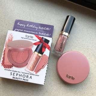 Tarte birthday set velvet lip stick and blusher