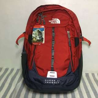 🎒North Face Surge II Transit Red Blue