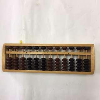 Wooden Abacus Arithmetic Soroban Calculating Tool