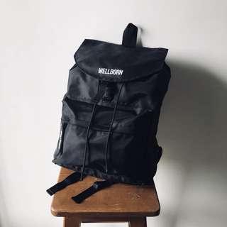 Wellborn Daily Bag - Black (Tas Backpack / Ransel Hitam Pria)