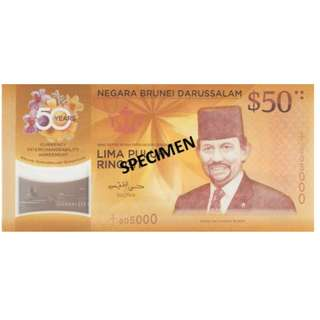Singapore and Brunei $50 fifty dollar note set with folder CIA Currency Interchangeability Agreement 1967-2017 50th golden anniversary  Please pick up from my void deck at bedok north road. i'm unable to meet elsewhere due to personal inconvenience.