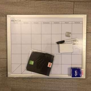 白版 白板 月歷 schedule white board