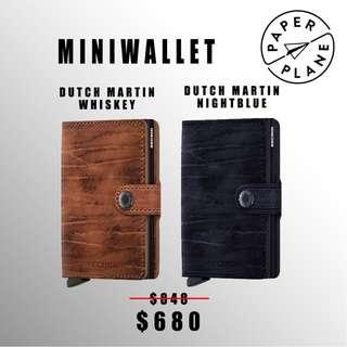 荷蘭SECRID 智能防盜Miniwallet真皮銀包 - 馬丁啡/藍 Dutch Martin Whiskey/ Nightblue(啡/黑鋁)