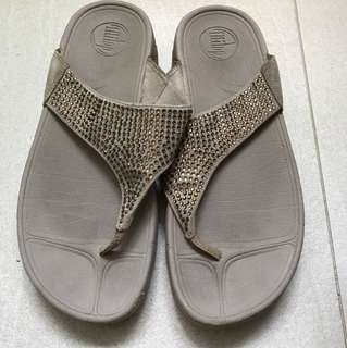 Fitflop beige with sequins