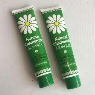 2x 75gm Bioaque Natural Chamomile Hand Cream