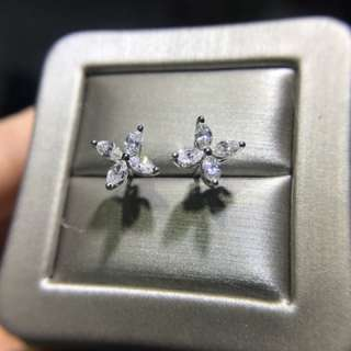 18k白金 diamond earring