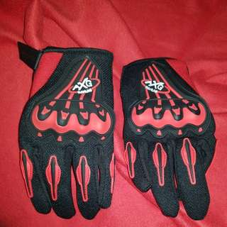 Riding gloves..