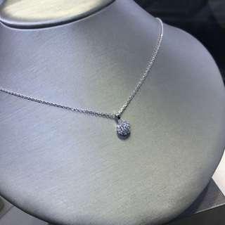 18k白金 diamond 吊咀