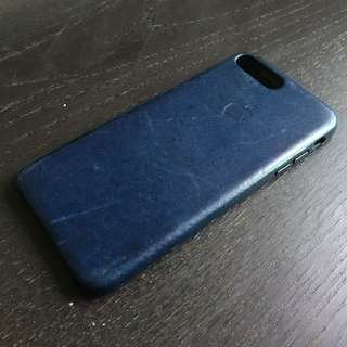 iPhone 7 plus 原裝皮革護殼 Leather Case ( Color: Midnight Blue )