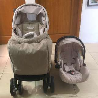 Graco Ultima Plus Travel Syste Beige