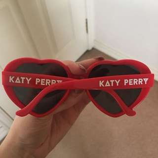 Katy Perry Red Love Heart Sunglasses