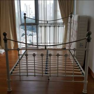 Japanese Metal Double Bed (Special Size Queen)