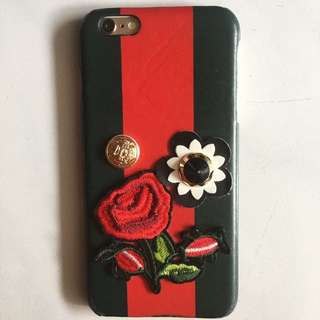 CASE IPHONE 6+/6s+ // DARK GREEN AND RED FLOWER 3D