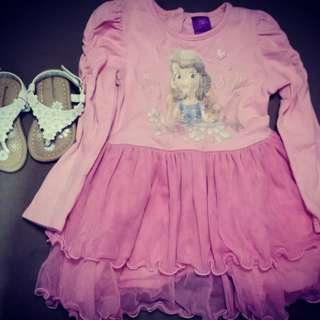 All in sandals and tutu dress 0-18months