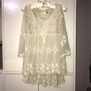 Romantic lace top by Korean brand