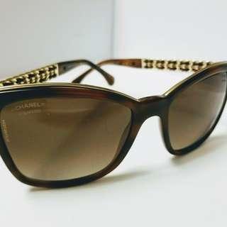 Chanel綴織皮鏡臂太陽眼鏡