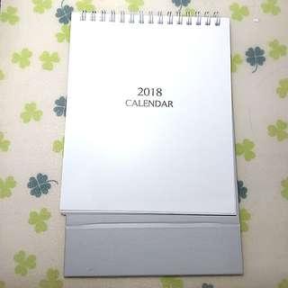 The Face 2018 座枱月曆