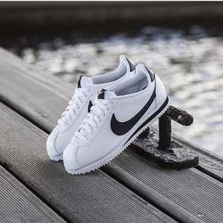 Nike cortez classic leather - white black