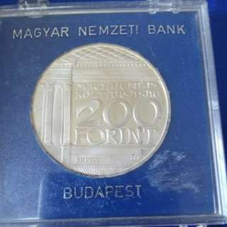 1977 Hungary 200 Forint silver proof.