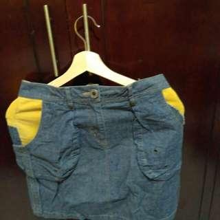 Mini jeans skirt #cintadiskon
