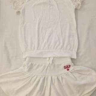 Girl's skirt and top
