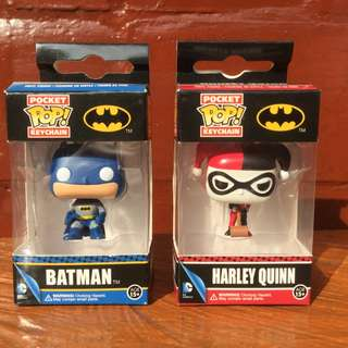Funko Pocket POP! Keychain Batman and Harley Quinn Bundle