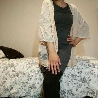 Creme kimono cardigan