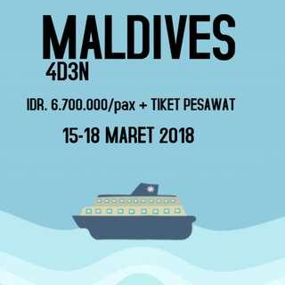 OPEN TRIP MALDIVES 4D3N 15-18 MARET 2018
