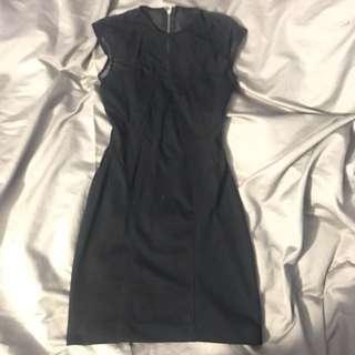 Black dress mesh top