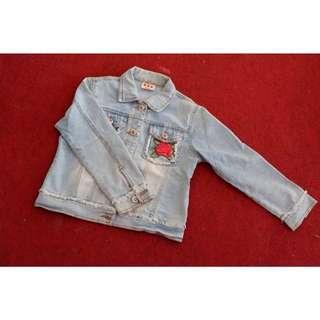 Jaket jins / jacket jeans rebel cewek