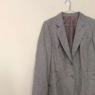 Over sized wool blazer