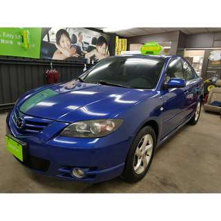 2004年Mazda3 2.0 S性能版▼新年特惠價14.8萬▼全額貸可月繳5890元▼準備3500即可輕鬆入主▼可找加油金哦。