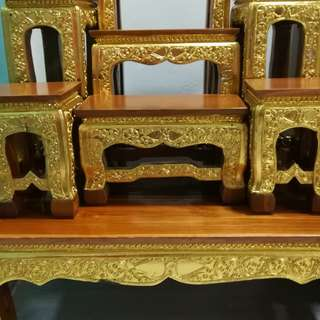 Thai Altar Table - 7 chairs. Tier level