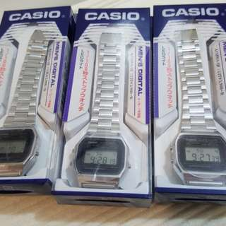 Authentic Casio Vintage Silver watch from JAPAN