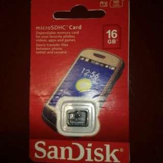 Memory card 16 gb sandisk