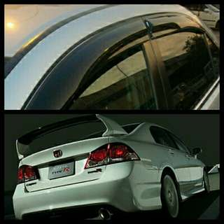 Honda Civic Fd Mugen Style door visor