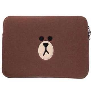 Line Brown Laptop Sleeve 🐻