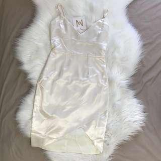Meshki Estella Dress Ivory - Size XS