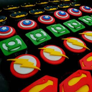 marvels themed  cupcakes