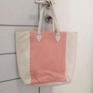 (ORIGINAL) CHARLES & KEITH Two Tone Totebag Pink