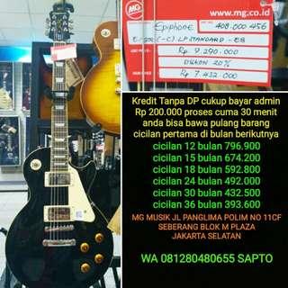 Gitar Epiphone LP std ebony bisa cicil tanpa dp