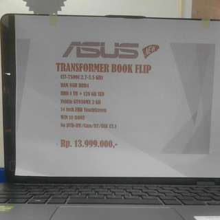 ASUS TRANSFORMER BOOK FLIP - Kredit no CC - Free 1x Angsuran