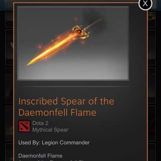 Dota 2 - spear of the daemonfell flame