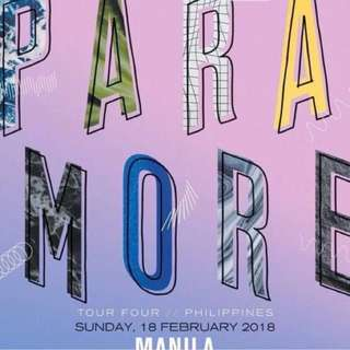 LOOKING FOR Paramore Tickets 2GEN AD