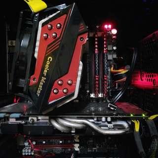 AMD fx8320 Asus ROG crosshair v formula z motherboard Corsair vengeance ddr3 1866mhz  Cooler master x6 cpu cooler