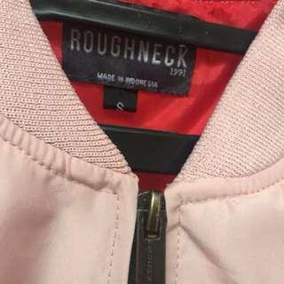 ROUGHNECK pink bomber jacket